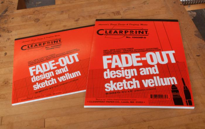 Clearprint Vellum Graph Paper - Isometric pads are bound long edge, standard grid pads are bound short edge