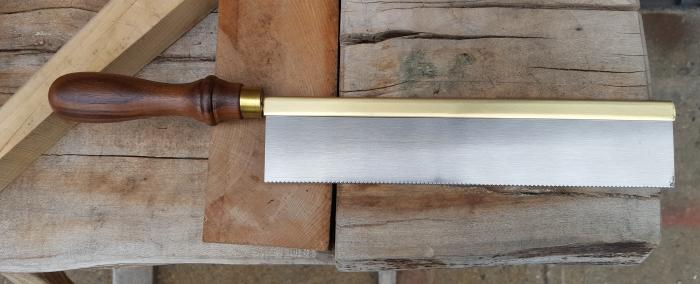 "Walnut handled, Brass backed 10"" saw - 20 tpi"