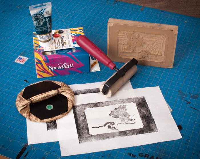Lino and block printing supplies