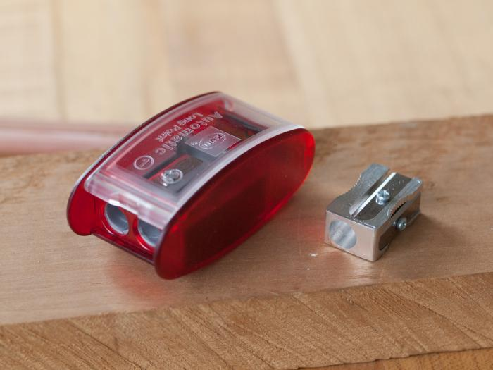 Manual Pencil Sharpeners - Long Point on the left, Magnesium on the right