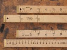 Brass Bound Yard and Meter Sticks