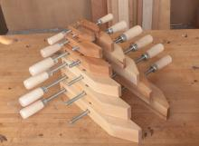Wooden Handscrew Clamps by Dubuque