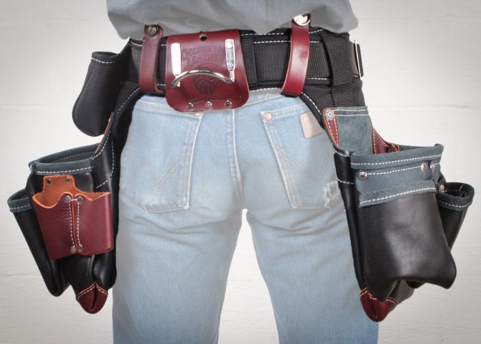 Adjust-to-Fit Green Building Tool Belt Set