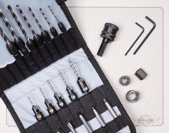 25 Piece Premium Drilling System in Canvas Pouch