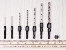 "7 Piece Drill Bit Adapter Set (1/16"" - 1/4"")